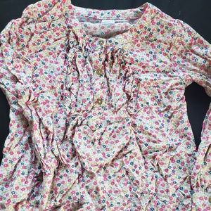 Flowery girl shirt